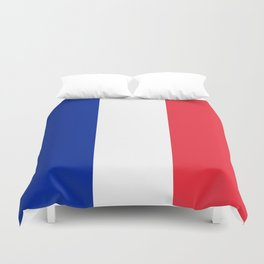 Flag of France, Authentic color & scale Duvet Cover