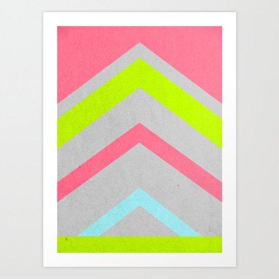 Abstract Neon Art Print