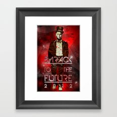 Barack To The Future Framed Art Print