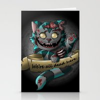 gore Stationery Cards featuring Chesire cat gore by trevacristina