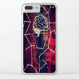 Gray Matter Clear iPhone Case