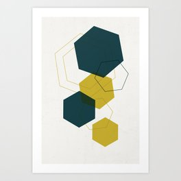 Multi diamond Art Print