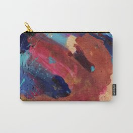 New Beginnings - Mixed Media Painting -Abstract Art Carry-All Pouch