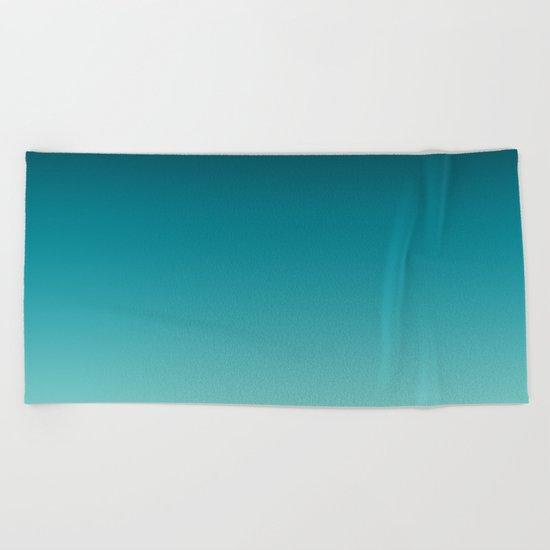 Ombre gradient digital illustration navy colors Beach Towel