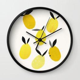 Lemons Wall Clock