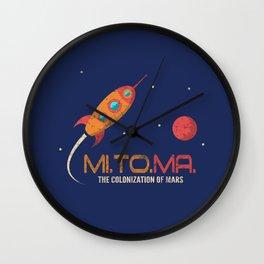 Vintage Rocket - Mission to Mars Wall Clock