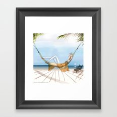 Chill, Relax, it's Summertime!! Framed Art Print