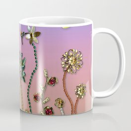 Happiness in the Garden of Bling Coffee Mug