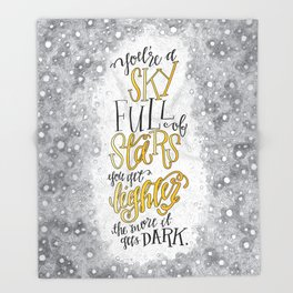 A Sky Full Of Stars [Coldplay] Throw Blanket