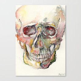Human Skull Painting Canvas Print