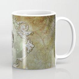 Wonderful tribal dragon on vintage background Coffee Mug