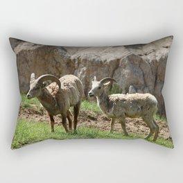 Wild Bighorn Sheeps Rectangular Pillow