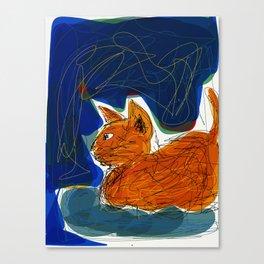 Socca Ginger Cat Art Canvas Print