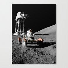 Battle of moon Canvas Print