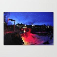 Night photography Canvas Print