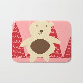 Christmas polar bear pink Bath Mat