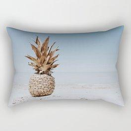 pineapple at the beach v Rectangular Pillow