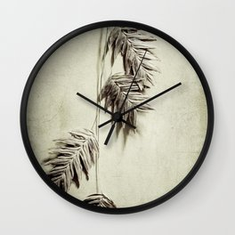 oat grass Wall Clock
