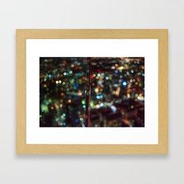 Skytower Bokeh Framed Art Print