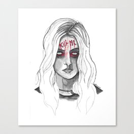 Kill Me B/W Canvas Print