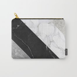 Contemporary Marble Stone Rays Carry-All Pouch