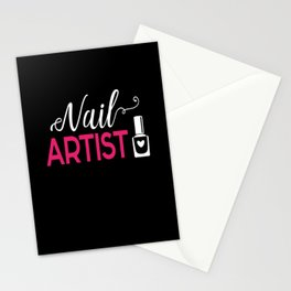 Nail Artist Fingernail Manicure Stationery Cards