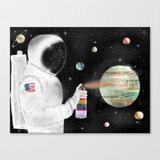 space graffiti Canvas Print