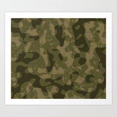 Camouflage Melt Art Print