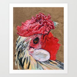 Rinaldo Harrington (Toupee, High School Ring) Art Print
