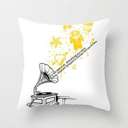 Music Maker Throw Pillow