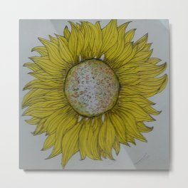 yelllow sunflower hand bag Metal Print