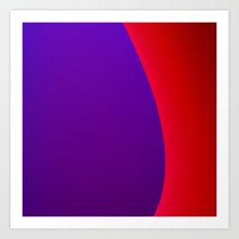 Red Wave Art Print