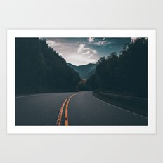Road #Trees Art Print