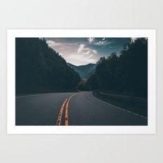 Road #Trees Art Print