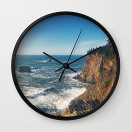 The Sunny Oregon Coast Wall Clock