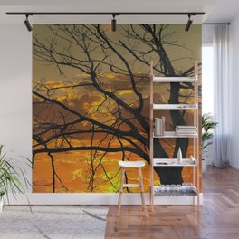 Sunset Tree, California Wall Mural