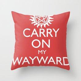 SUPERNATURAL CARRY ON MY WAYWARD SON Throw Pillow