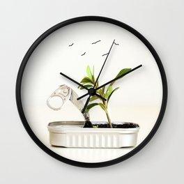 Planeta limpio Wall Clock