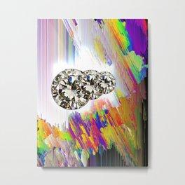 Tree Diamonds in Colours Metal Print