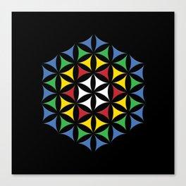 Rubix Flower Color Canvas Print
