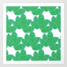 Peacock Plant Print Art Print