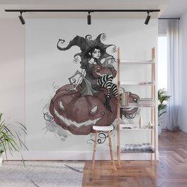 Inktober Jack-o-lantern Wall Mural