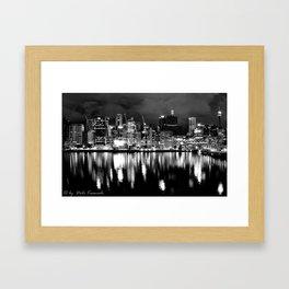 Barangaroo Cranes Framed Art Print