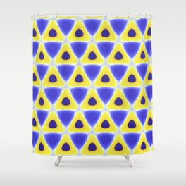 A sea of Triangles Shower Curtain