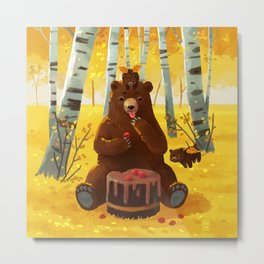 Chocolate cake and the bears Metal Print
