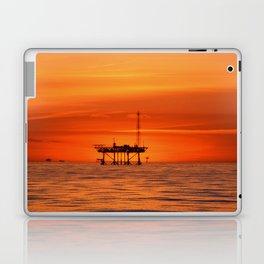oilfield sunset Laptop & iPad Skin