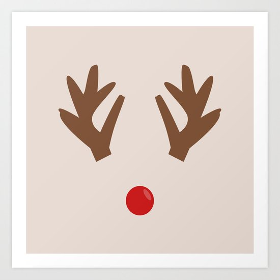 THE RED NOSED REINDEER Art Print
