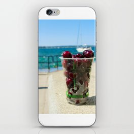 National Cherry Festival - Traverse City, Michigan - Local Sweet Cherries In A Cup iPhone Skin