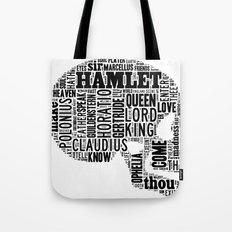 Shakespeare's Hamlet Skull Tote Bag