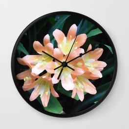 Clivia Cluster - Digital Oil Painting Wall Clock